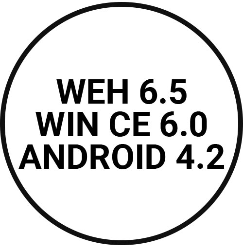 WEH 6.5, WIN CE 6.0, Android 4.2