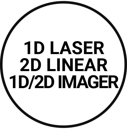 1D laser, 1D linear, 1D/2D imager