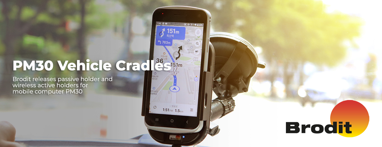 Point Mobile PM30 wireless vehicle holder Brodit